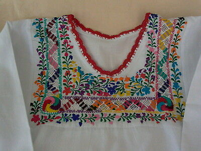 Colorful Mexican Hand Embroidered Blouse