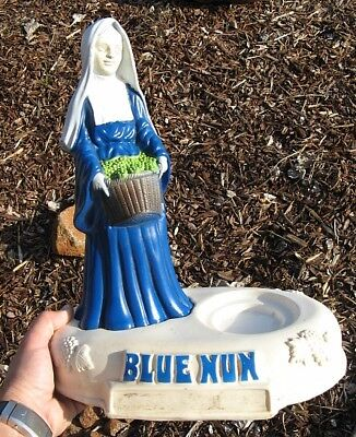 Vintage Blue Nun Wine Store Bottle Display
