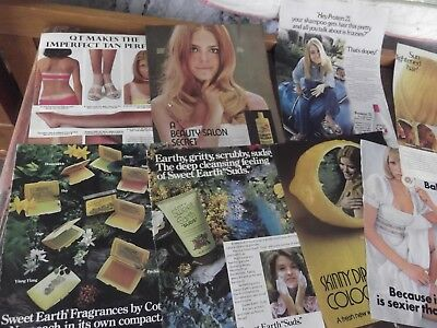 8 Cosmetic Ads From The 70's Coty Sweet Earth  Lemon Up Shampoo Sun- In