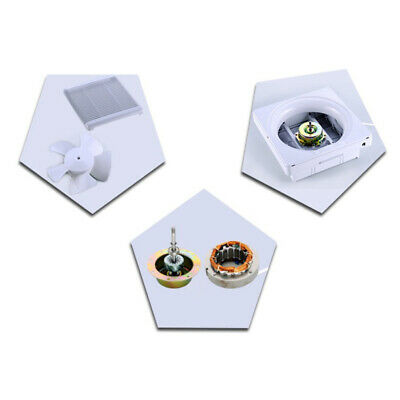 """Bathroom Wall Mounted Ventilation Fan Air Vent Exhaust Toilet Kitchen 6"""""""