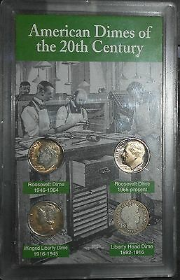 American Dimes Of The 20th Century Coin Set, Estate Auction, .99 start, no res