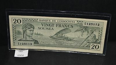 West Point Coins ~ New Caledonia 20 Francs #49 Note 1944