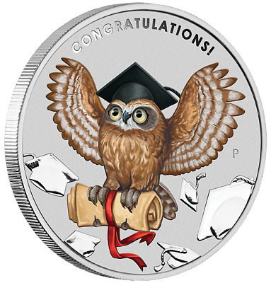 Graduation 2018 1oz Silver Coin From The Perth Mint