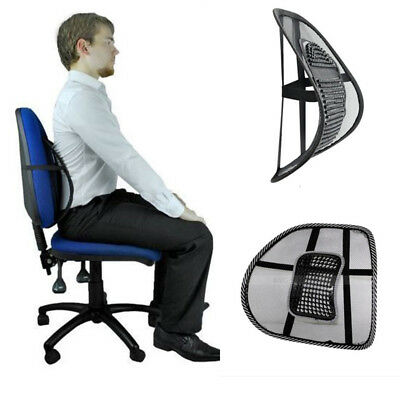 Mesh Lumbar Lower Back Support Cushion Seat Posture Corrector Car Office Great