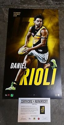 Richmond Signed Official Daniel Rioli #17 AFL Print  + COA - Hand Signed
