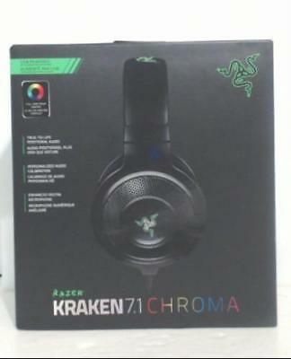 NEW Razer RZ04-01250100-R3U1 Kraken 7.1 Chroma USB Gaming Headset $98