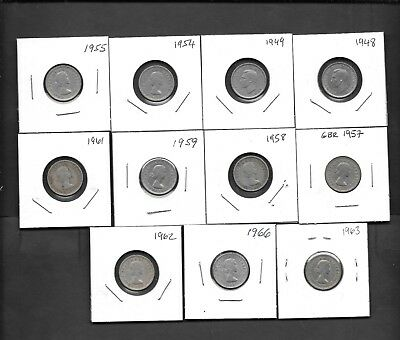 Great Britain lot of 11 x Six Pence Circulated Coins - Marriage Coins ...