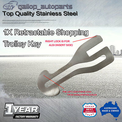 Universal Removable Shopping Trolley Token Key AU$1 COIN SLOT ALDI Woolies COLES
