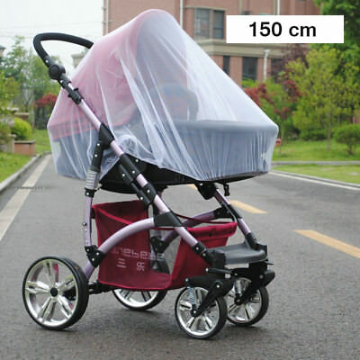 150cm Mosquito Net Stroller Infants Baby Safe Mesh White Bee Insect Bugs Cover