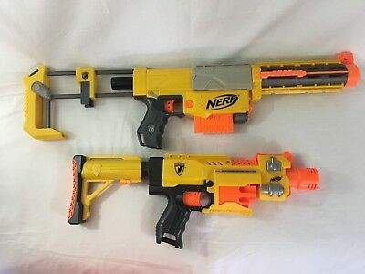 Nerf N-Strike Lot of 2:(1) Recon CS-6 Dart Blaster (1) Barricade RV-10