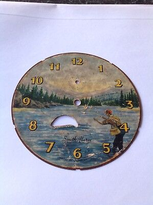 Smiths fishing clock dial and fish disc