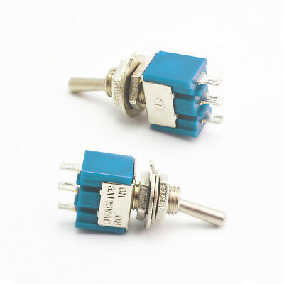 10X 6A/125VAC Mini SPDT MTS-102 SPDT 2 Position Toggle Switches On-on Latching