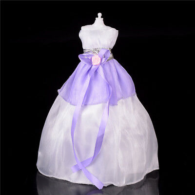 Wedding Party Mini Gown Handmade Dress Fashion Clothes For Barbie Doll 3 Color F