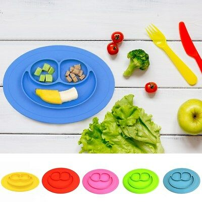 Baby Toddler One Piece Silicone Placemat Plate Dish Food Tray Kids Table Mat OQ