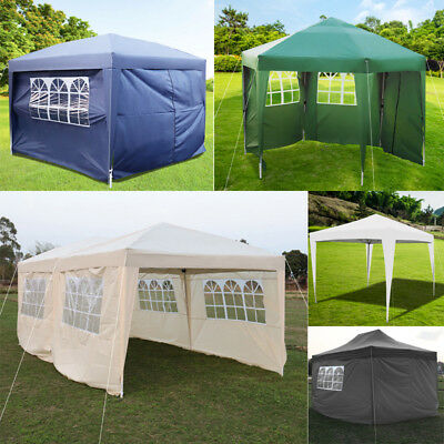 Waterproof 2mx2m 3x3m 3x6m Pop Up Gazebo Marquee Garden Awning Party Tent Canopy