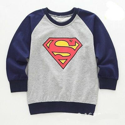 Baby Kids Children Boys Girls Clothes Long Sleeve Tshirt Pullover 5-6 years