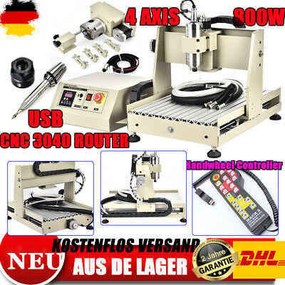 USB 4Axis 800W 3040 CNC ROUTER GRAVIRMASCHINE ENGRAVING mit Handwheel Controller