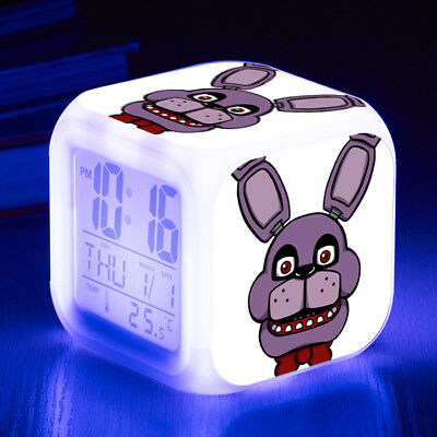 Five Nights at Freddy's Alarm Clock LED 7 Color Change Decor Night light Cosplay