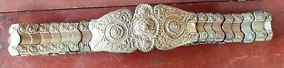 Antique Slide Heavy Metal Belt with Hook Buckle Cloth Handmade GORGEOUS!