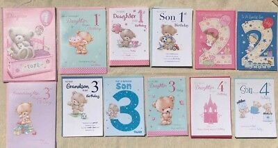 JOBLOT Of 29 Birthday Cards Age 1 - 5 Son Daughter Granddaughter and Grandson