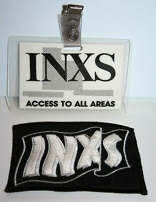 Inxs Laminated Backstage Concert Pass October 13, 1982 + Unused Cloth Badge