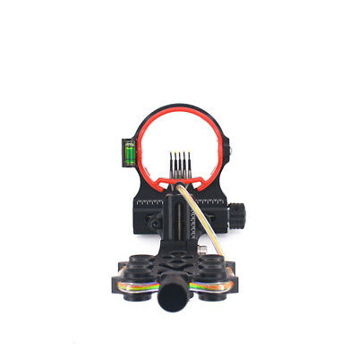 New AXT X 5 Pin Bow Sight Micro-Adjust 2'' HD Fiber Micro LED For Compound Bow