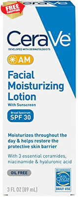 CeraVe AM Facial Moisturizing Lotion SPF 30 3 oz with Broad Spectrum...
