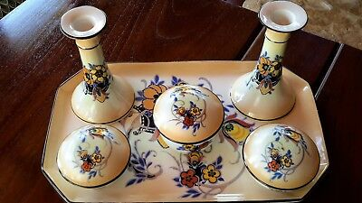 ART DECO Ladies' Dressing Table Set, Kiralpo Ware (UK) c 1930, Rare