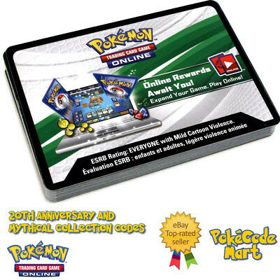 GENERATIONS 20th ANNIVERSARY & MYTHICAL COLLECTION - Pokemon Online Codes TCGO
