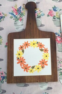 Retro/cool Vintage Floral Formica Chopping Board