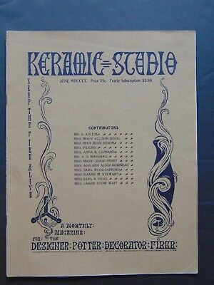 June 1900 of Keramic Studio Magazine with Color Supplement