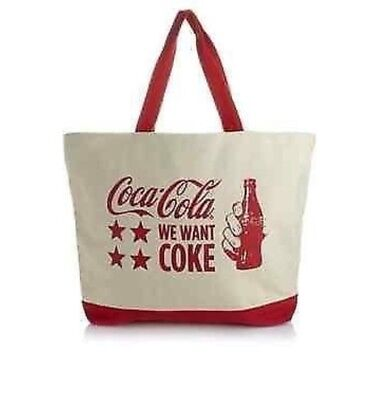 "The Coca-Cola Company We Want Coke Huge Canvas Tote 23"" X15"""