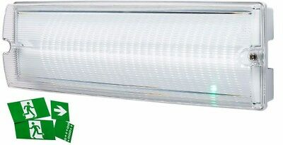Knightsbridge LED White 3W 230V 3Hour Emergency Bulkhead IP65 Maintained Light