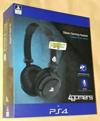 Official Black Stereo Chat GAMING Headset Playstation 4 PS4 Vita Pro4 10 NEW