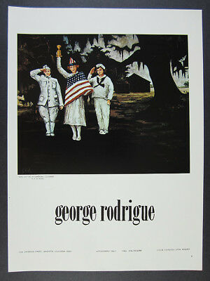 1973 George Rodrigue Miss July 4th of Carencro Louisiana painting vintage Ad