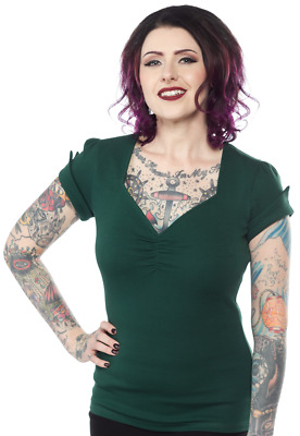Sourpuss Honey Green Punk Rockabilly Emo Goth Heavyweight Knit Top SPTOP102