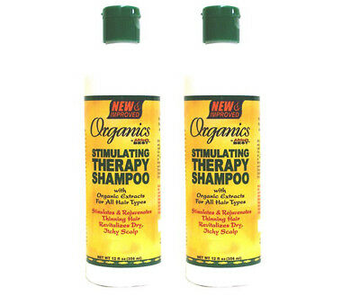 2 x Africa's Best Organics Stimulating Shampoo TherapyFor All Hair Types