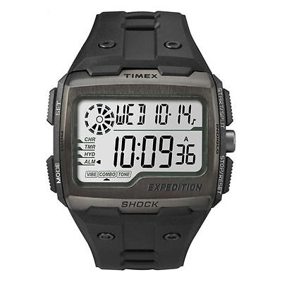 Timex TW4B02500, Expedition Grid Shock Chronograph Watch, Indiglo, 3 Alarms
