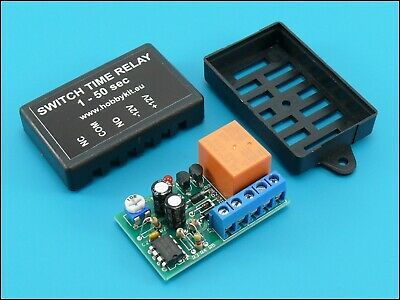 Delay Time Relay 1 to 50 sec Timer Delay On Switch 12V 10A