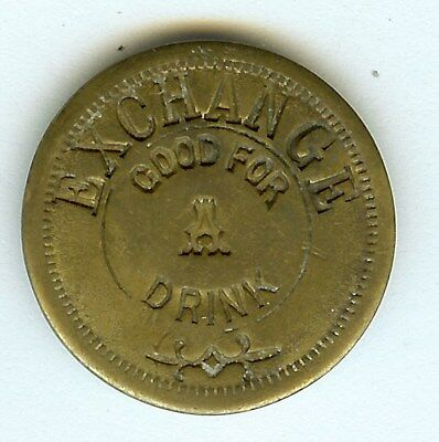 J.M. BRUNSWICK & BLAKE CO. GOOD FOR A DRINK TRADE TOKEN - CHICAGO - (23mm-4.2g)