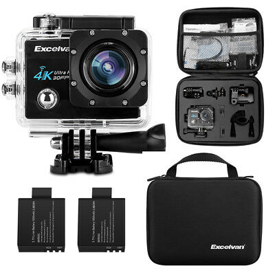 WiFi 4K 4640*3840 16MP HD Sports Kamera Camcorder Wasserdicht Aktion Cam DV 170°