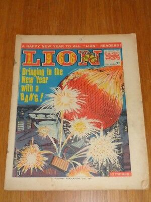 Lion 1St January 1966 Fleetway British Weekly Comic Christmas Issue*