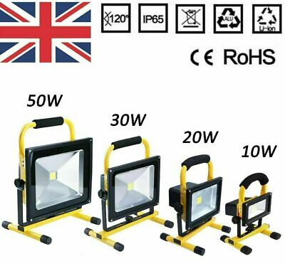 LED Rechargeable Cordless Mobile Portable Work Site Flood Light Camping Fishing