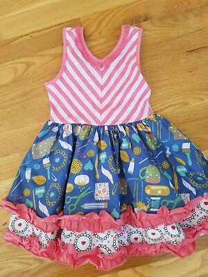 Matilda Jane NWT Work of Heart dress size 4 twirl twirly Camp MJC