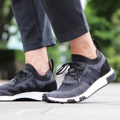 half off 191d5 f10c4 Adidas Originals Nmd Racer Pk Primeknit Boost Black Grey Men New Shoes  AQ0949