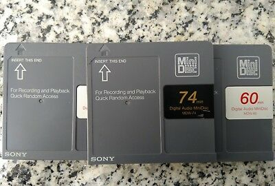 3x Sony mini disc