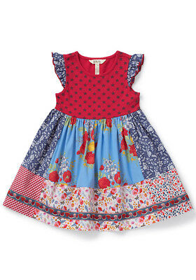 Matilda Jane NIB In the Stars dress size 8 4th of July Patriotic Red White Blue