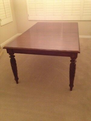 "Ethan Allen British Classics Livingston Dining Table 72""x44"" Cinnabar Finish"