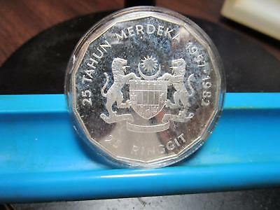 1982 - Malasia - 25 Ringgit - Silver Commem.  Proof                     (E-12)