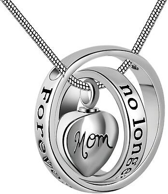 Eternally Loved No longer by my side,forever in my heart carved locket Urn for